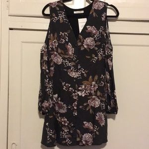 New Flower Button Dress